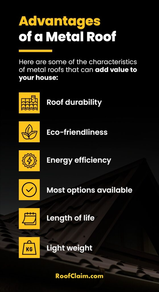 Advantages of a metal roof.
